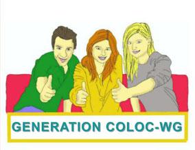 Drei junge Leute zeigen den Daumen hoch und sind begeistert von Generation Coloc-WG.