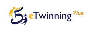 """Logo """"5 Jahre eTwinning Plus"""""""