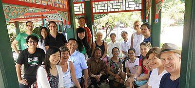 Deutsch-chinesische Lehrergruppe in Pavillon