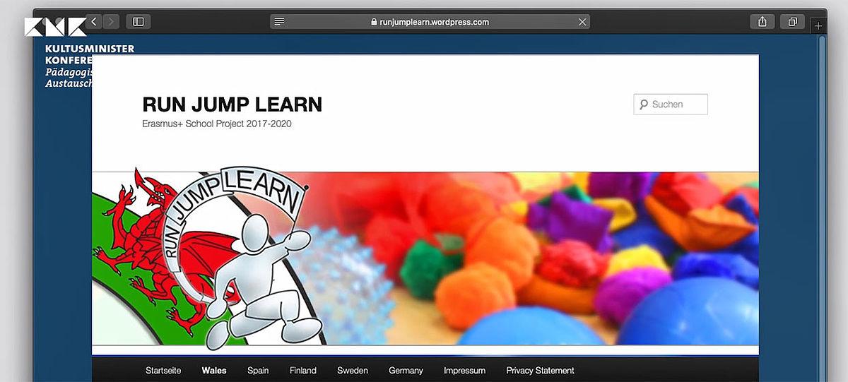 Titelseite des Projektblogs