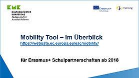 """Bild des Videobildschirms mit Titel """"Mobility Tool"""""""