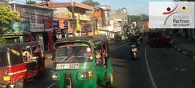 Szene Straßenverkehr in Sri Lanka