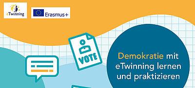 """Cover der eTwinning-Broschüre """"Demokratie lernen und praktizieren mit eTwinning"""""""