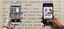 Virtueller Schüleraustausch mit den USA über Smartphones - Symbolbild.