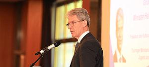 KMK Präsident Helmut Holter bei der Ansprache