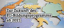 Grafik mit Europapuzzle und Schrift