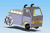 Zeichnung eines Fahrzeugs