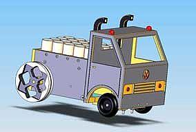 Zeichnung von Zugfahrzeug