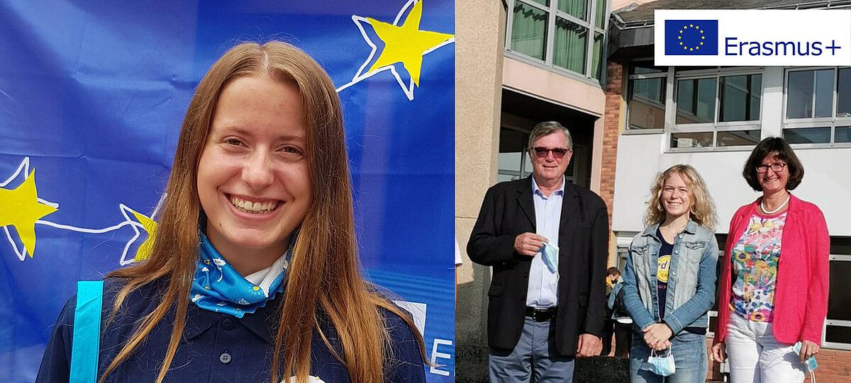 Diese Schülerinnen haben einen Schüleraustausch mit Erasmus+ zwischen Frankreich und Deutschland gemacht.
