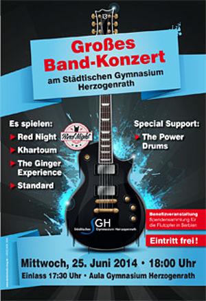 Plakat für Band-Konzert