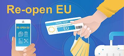"""Banner der Plattform """"Re-open EU"""""""