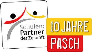 Logo der Initiative Schulen Partner der Zukunft und Hinweis zum 10 Jahresjubiläum