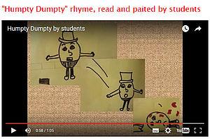 Kinderzeichnung illustriert den Reim auf YouTube