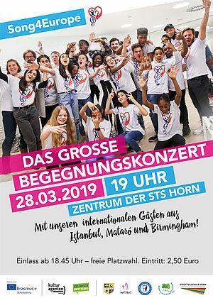 Plakat mit Werbung für das Abschlusstreffen