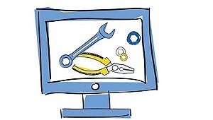 Grafik: Monitor und Werkzeuge
