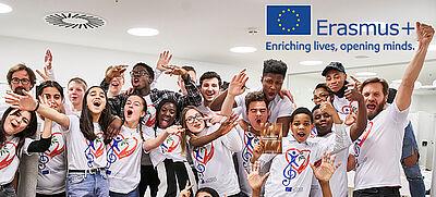Schülerinnen und Schüler feiern ihr Erasmus+ Projekt in Hamburg