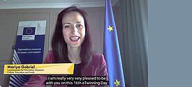 Mariya Gabriel richtet eine Videobotschaft an Lehrkräfte