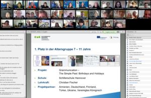 Bildschirmansicht einer Online-Konferenz