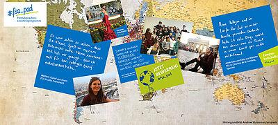 Collage aus Fotos und Texten zum Thema FSA
