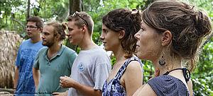 Junge kulturweit-Freiwillige in Kolumbien