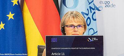 Anja Karliczek bei Videkonferenz zu #eu2020de