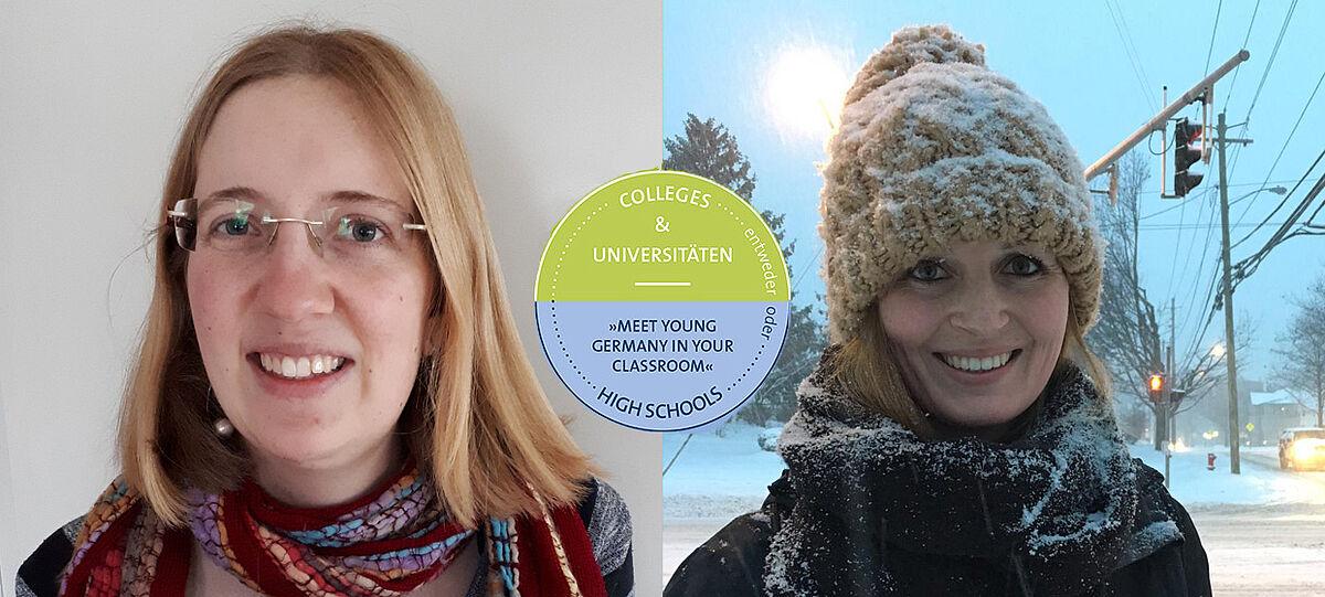Fotos von zwei jungen Frauen