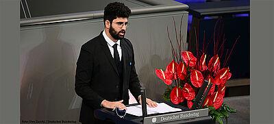 Ehemaliger Johannes-Rau-Stipendiat spricht vor dem Bundestag.