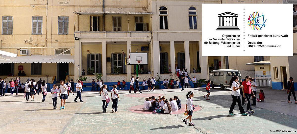 Foto zeigt die Deutsche Schule der Boromäerinnen in Alexandria