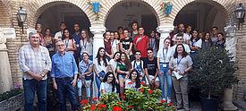 Gruppenbild einer Schulklasse in Andalusien