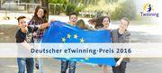 toto von Jugendlichen mit Europafahne