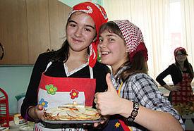 Weltweit lecker begeistert die Schülerinnen nicht nur in Russland