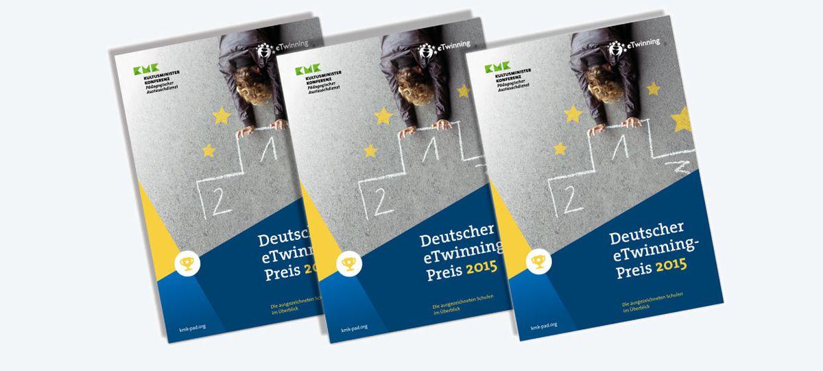 Titelseiten der Broschüre zum deutschen eTwinning-Preis
