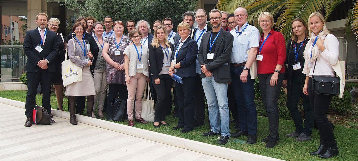 Gruppenbild der deutschen Teilnehmer/-innen der eTwinning-Konferenz in AthenKonferenz