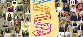 Collage mit Fotos deutscher und peruanischer Projektteilnehmer/-innen