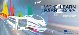 Grafik aus verschiedenen Verkehrsmitteln mit Aufschrift Move2Learn
