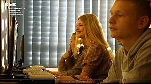 Schüler am Computerarbeitsplatz