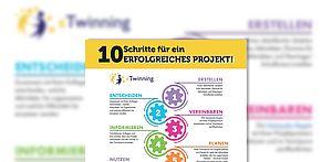 """Infografik """"10 Schritte für ein erfolgreiches eTwinning-Projekt"""""""