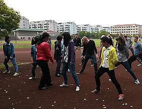 Gesundheitsförderung auf dem Schulcampus während der Austauschbegegnung im Frühjahr 2014