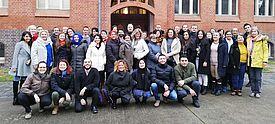 Gruppenbild deutsche und türkische Lehrkräfte in Berlin beim Multiplikatorenaustausch (Foto: YFU)