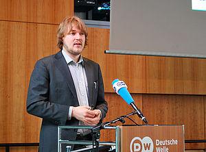 Steven Stegers bei seinem Vortrag