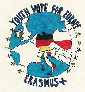 "Projektlogo mit Aufschrift ""Youth vote for Europe"