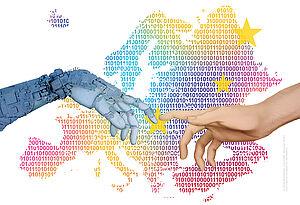 Plakatmotiv zum 68. Europäischen Wettbewerb