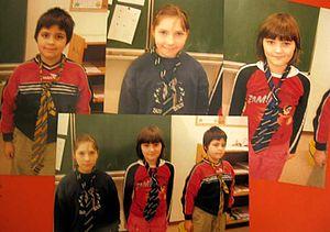 Fotos von Kindern mit Krawatten