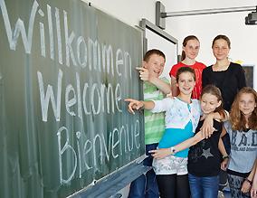 Schüler hospitieren in Deutschland